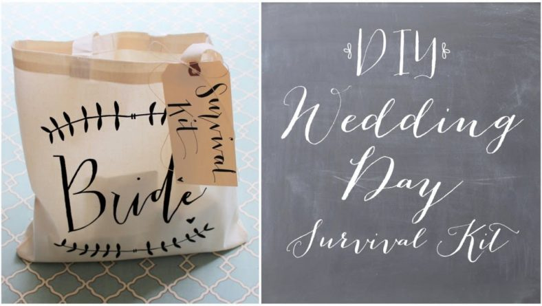 What to pack in your wedding day survival kit